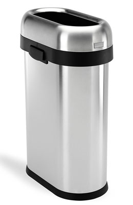 7. simplehuman 50 L / 13 Gal Slim Open Top Trash Can