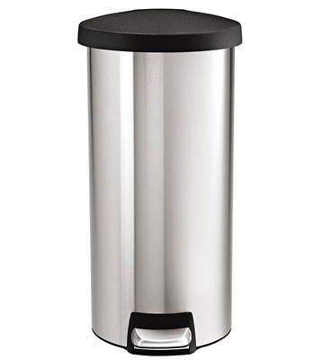 6. simplehuman 30 L / 8 Gal Round Step Trash Can