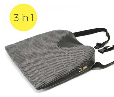 2. Clever Yellow Car Seat Cushion