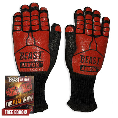 9. Grill Beast BBQ Grilling Gloves