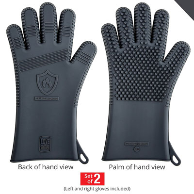 3. Love This Kitchen Men's Barbecue Gloves