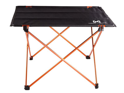 5. Moon Lence Folding Camping Table with Carrying Bag
