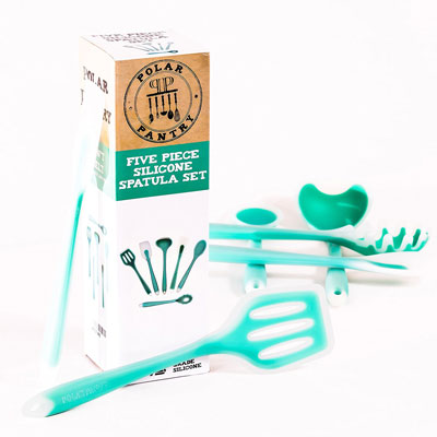 9. Polar Pantry 5 Pieces Silicone Spatula Set