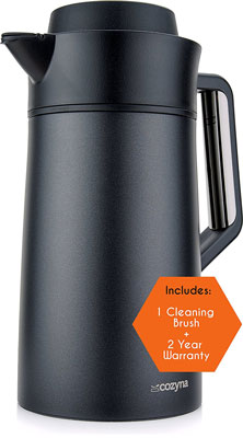 5. Cozyna 51oz Stainless Steel Thermal Coffee Carafe