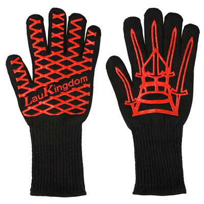 5. LauKingdom BBQ Grilling Cooking Gloves