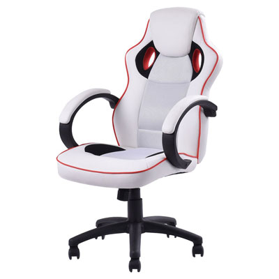 6. Giantex White Executive Gaming Chair