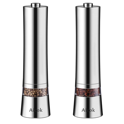 5. Aicok Stainless Steel Salt and Pepper Grinder Set (Pack of 2)