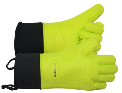 4. GEEKHOM BBQ Grilling Gloves