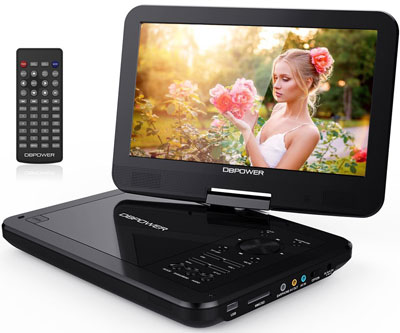 "5. DBPOWER Portable DVD Player (10.5"")"