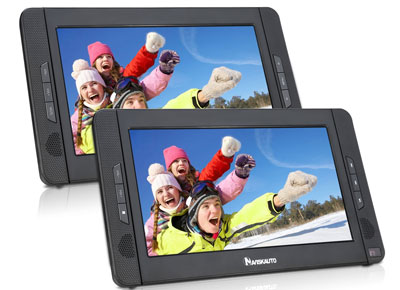"9. NaviSkauto Dual Screen DVD Player (10.1"")"