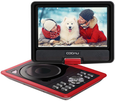 "3. COOAU Portable DVD Player (11.5"")"