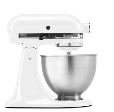 8. KitchenAid KSM75WH Stand Mixer