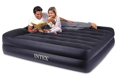 6. Intex Rest Raised Airbed with Built-in Pillow