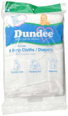 6. Dundee Burp Cloths/Diapers