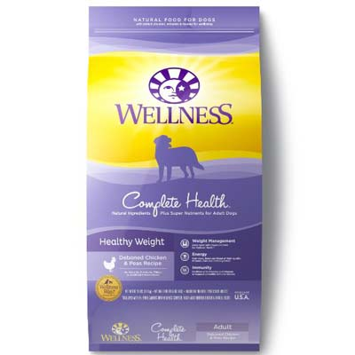 2. Wellness Natural Pet Food Healthy Weight Chicken & Peas Dry Dog Food