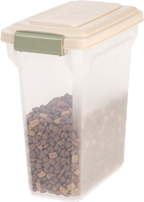 8. IRIS Premium Food Storage Container (Tan, Small)