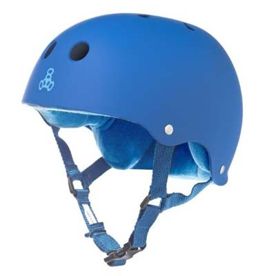 6. Triple Eight Rubber Helmet with Sweatsaver Liner (Royal Blue Rubber, Small)