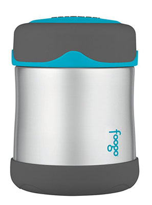 3. THERMOS FOOGO 10 Ounce Food Jar (Charcoal/Teal)