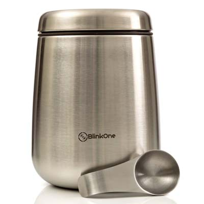 8. BlinkOne Coffee Canister