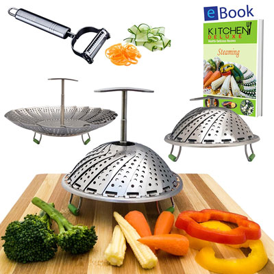 2. Kitchen Deluxe Vegetable Steamers