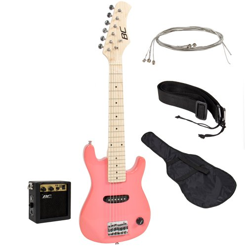"4. 30"" Kids Pink Electric Guitar"