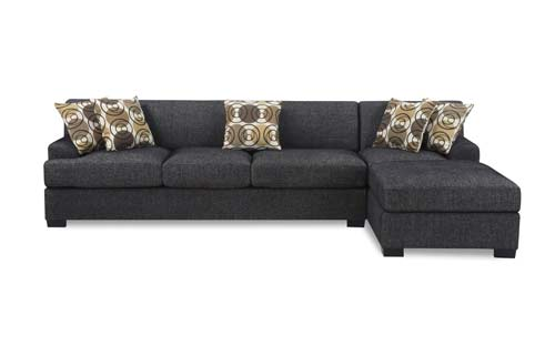 5. Bobkona Poundex Benford Collection Chaise Sofa