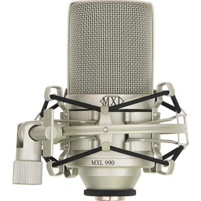 4. MXL 990 Condenser Microphone with Shockmount