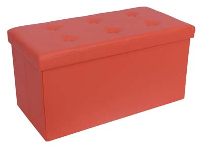 6. Songmics Collapsible Faux Leather Storage Ottoman