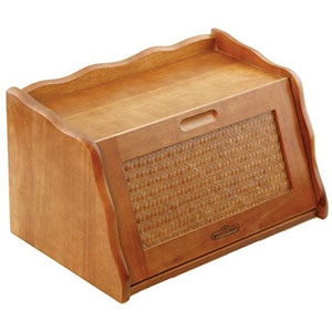 7. Mountain Woods Large Bread Box Oak Finish