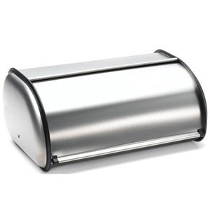 3. Francois ET Mimi Brushed Stainless Steel Rolltop breadbox
