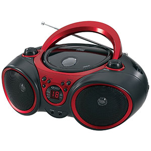 6. Jensen Red and Black CD-490 Stereo CD Player