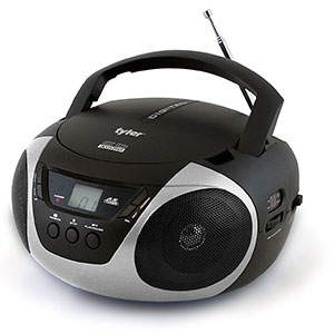 8. Tyler Silver Portable Stereo CD Player (TAU101-SL)