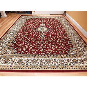7. AS Quality Rugs Large eight by 11 Red Traditional Rug for Living Room