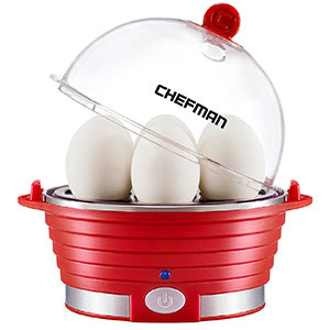 7. Chefman Modern Electric Red Egg Cooker (RJ24-V2-Red)
