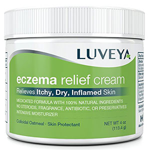 3. Luveya Eczema and Dermatitis lotion for Itchy, Dry, Cracked Skin Relief