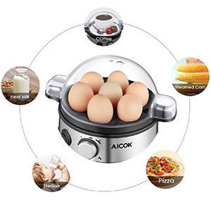 9. Aicok Electric Egg Cooker with 7 Egg Capacity