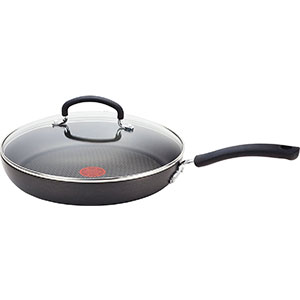 3. T-fal Gray 10-Inch Nonstick Lid Cookware (E76597)