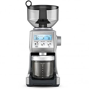 8. Breville Brushed Stainless Steel Coffee Grinder (BCG820BSSXL)