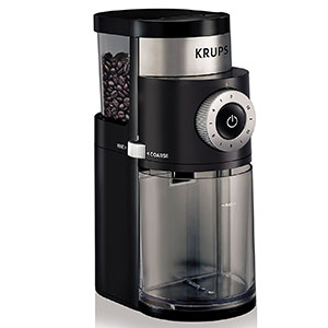 2. KRUPS 7-Ounce Electric Coffee Burr Grinder (GX5000)
