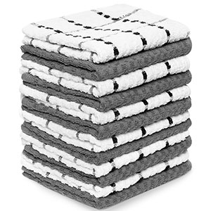 2. Royal Dobby Weave 12-Pack Kitchen Towels