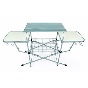 2. Camco 57293 Deluxe Folding Grill Table