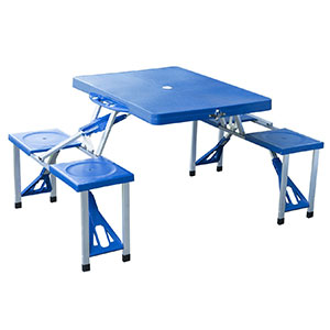 6. Outsunny Portable Folding Outdoor Table w/ 4 Seats