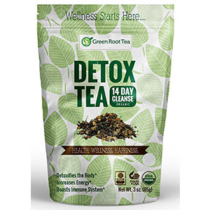 6. Green Root Wellness Organic Green Detox Tea (28 Servings)