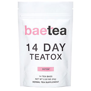 1. Baetea 14 Day Detox Herbal Tea Supplement (14 Tea Bags)
