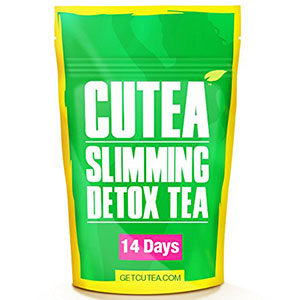 7. Cutea Natural Weight Loss Detox Tea (14 Tea Bags)