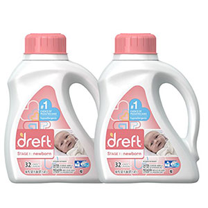 1. Dreft Stage 1: 2 Count Liquid Baby Laundry Detergent