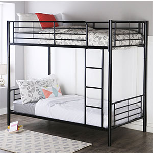 4. Walker Edison Metal Bunk Bed (Twin-Over-Twin)