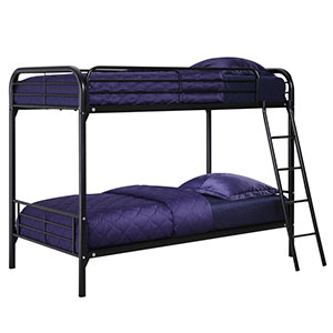 1. DHP Black Bunk Bed (Twin-Over-Twin)