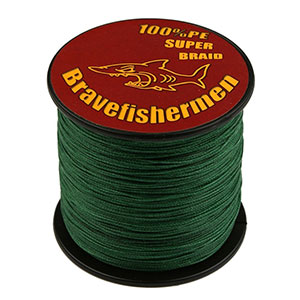 6. Bravefishermen PE Braided Fishing Line