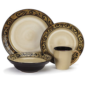 4. Cuisinart CDST1-S4G5 Isere Collection Dinnerware Sets